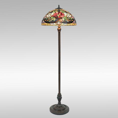 Kolorowa lampa stojąca ARIADNE w stylu Tiffany