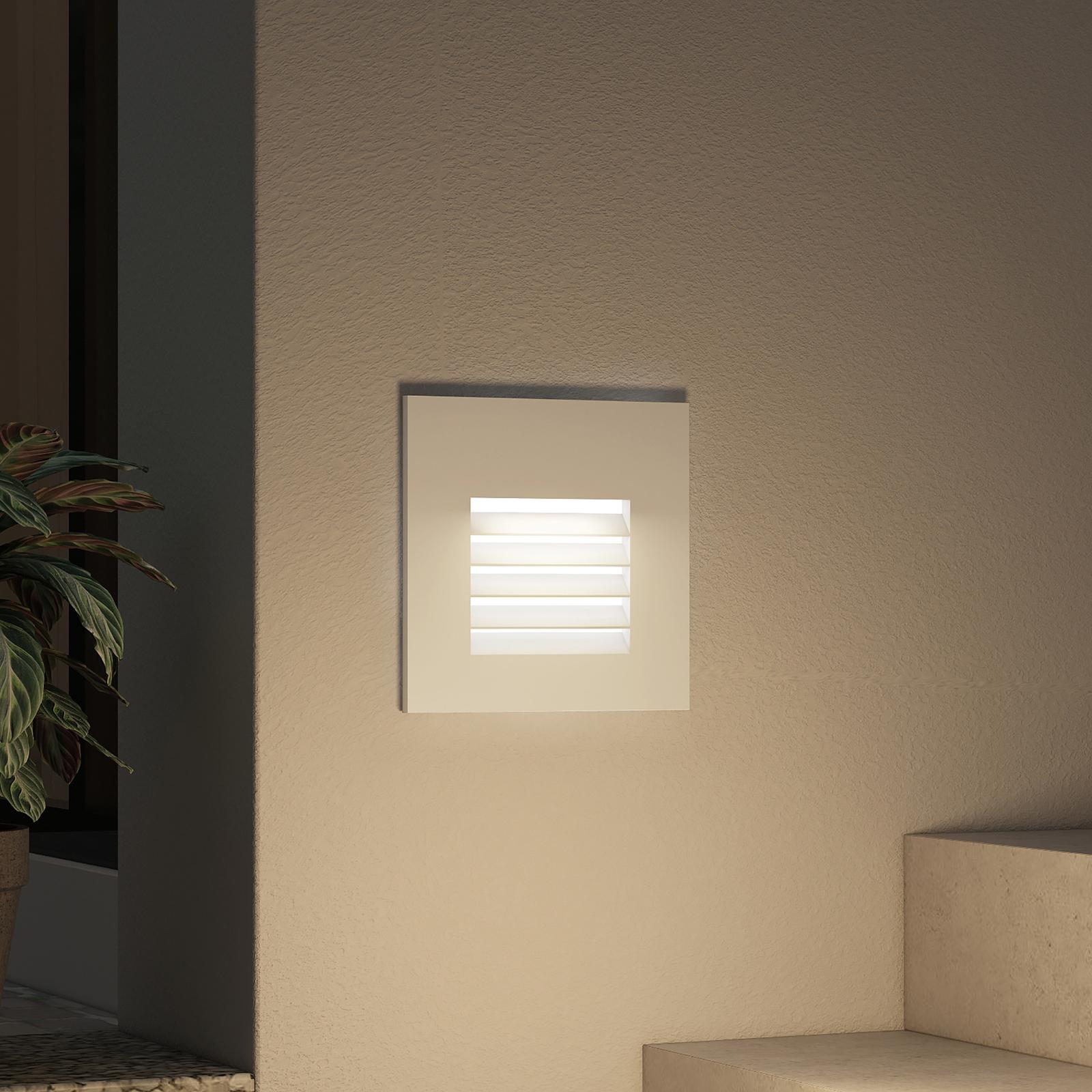 Arcchio Makio lámpara empotrada LED, plata