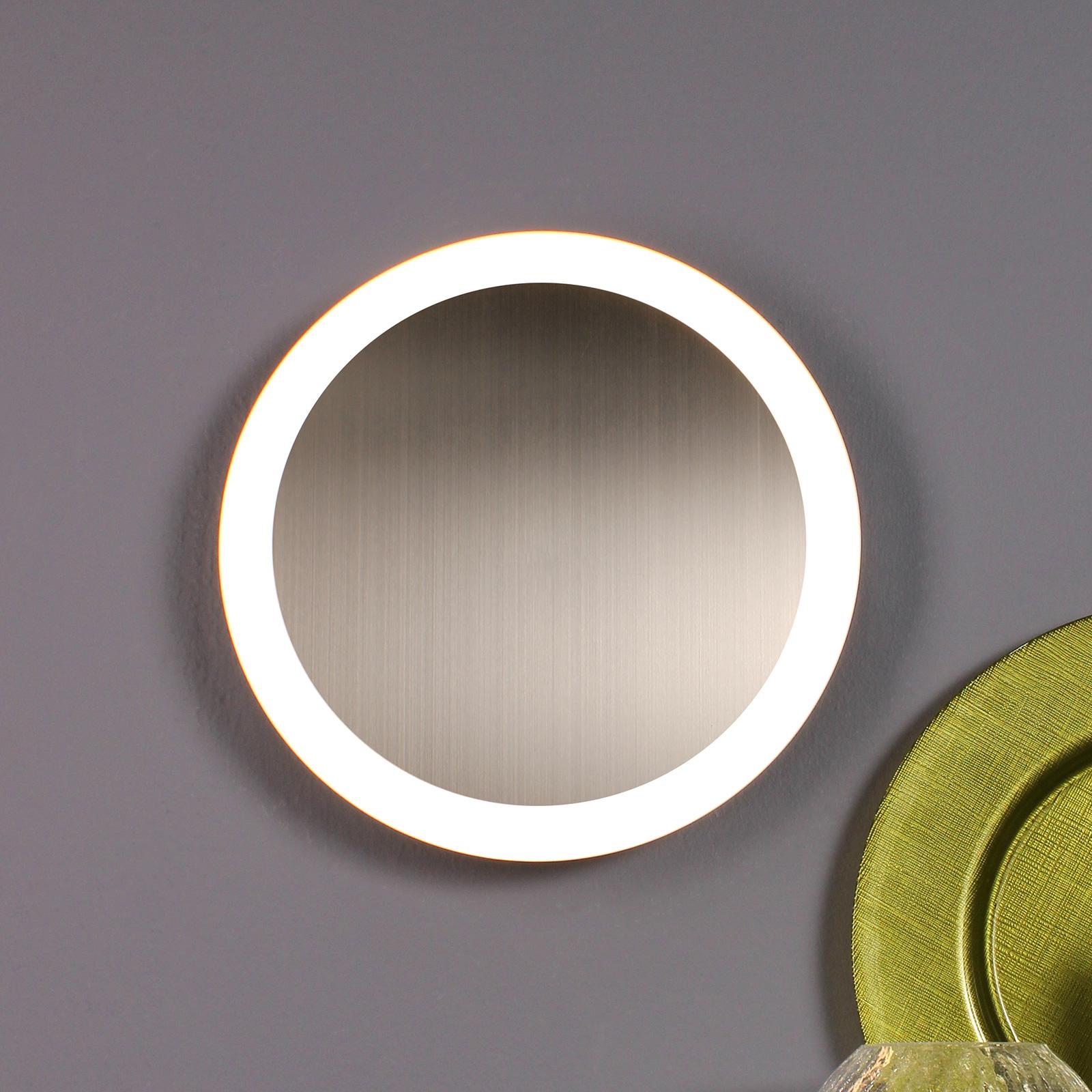 Lampa sufitowa LED Moon Ø 30 cm, srebrna