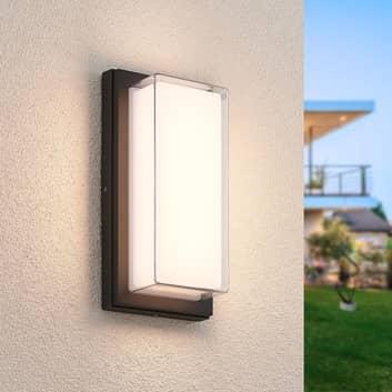Lindby Aluki aplique LED de exterior, rectangular