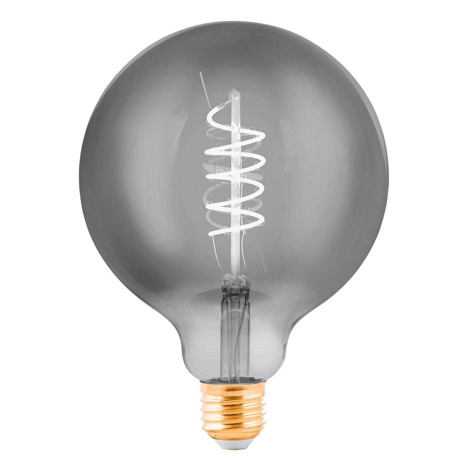 LED-Globelampe E27 4W schwarz-transparent Ø 12,5cm