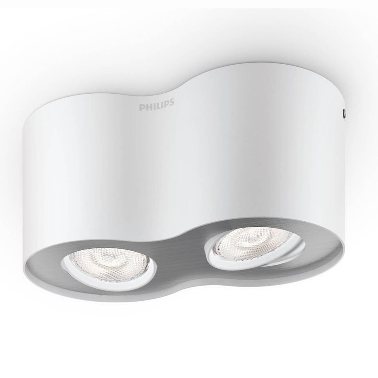 LED spot Phase in wit met twee lichtbronnen