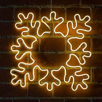 LED-Dekosilhouette Schneeflocke für außen