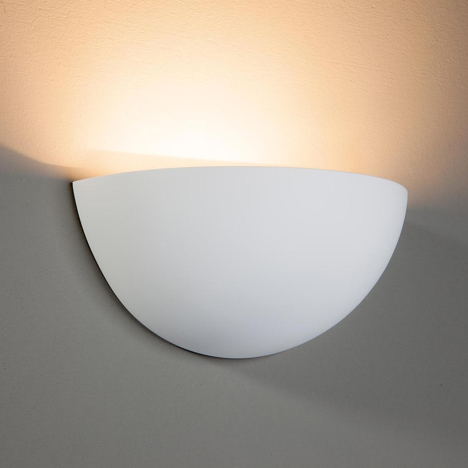 Applique Pascali en plâtre à lumière indirecte