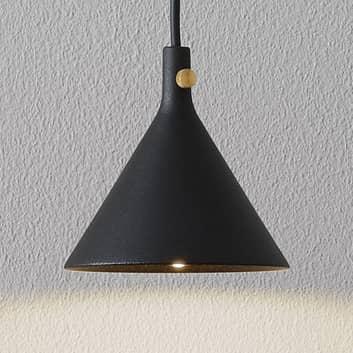 Menu Cast LED-Hängeleuchte in Schwarz, Shape 1