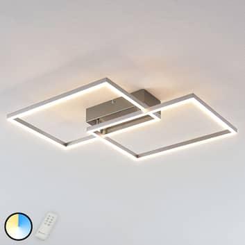 Plafoniera LED Quadra, dimmerabile a 2 luci, 50 cm
