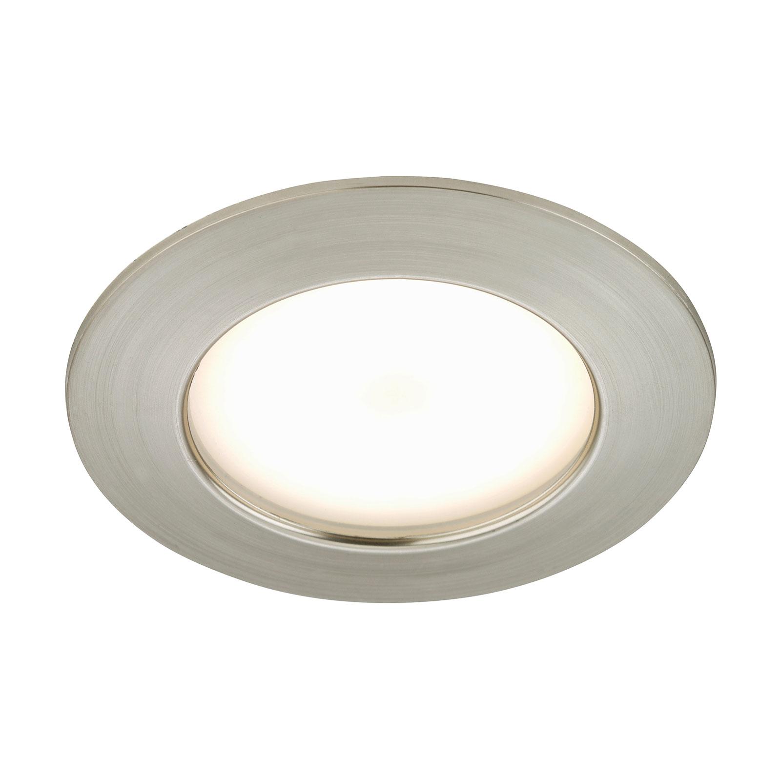 Ljusstark LED-inbyggnadslampa Elli, nickel matt
