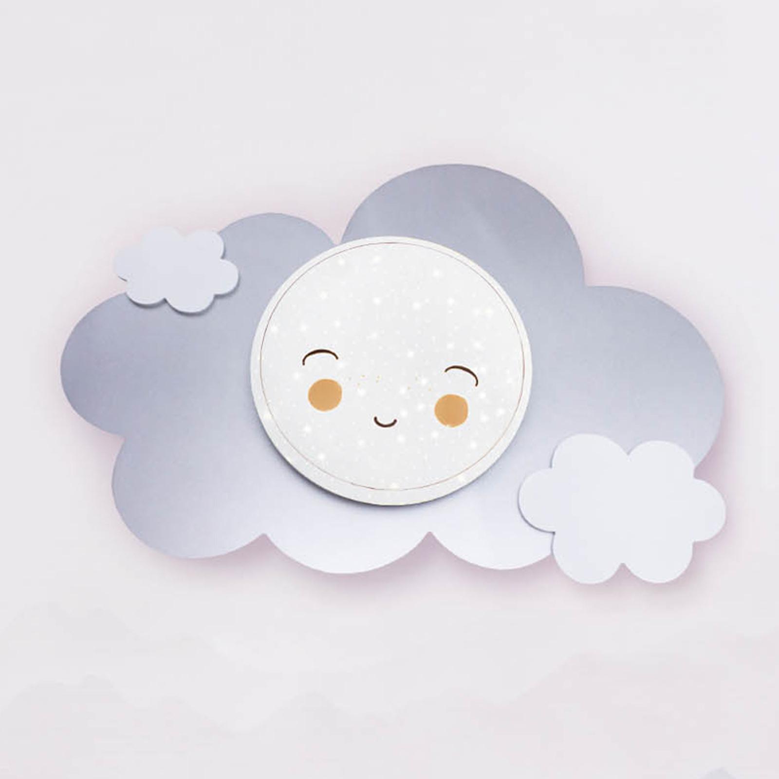 Applique LED nuvola Starlight Smile argento