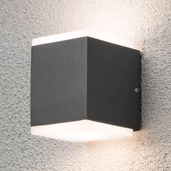 Monza udendørs LED-væglampe kvadratisk 2 lyskilder