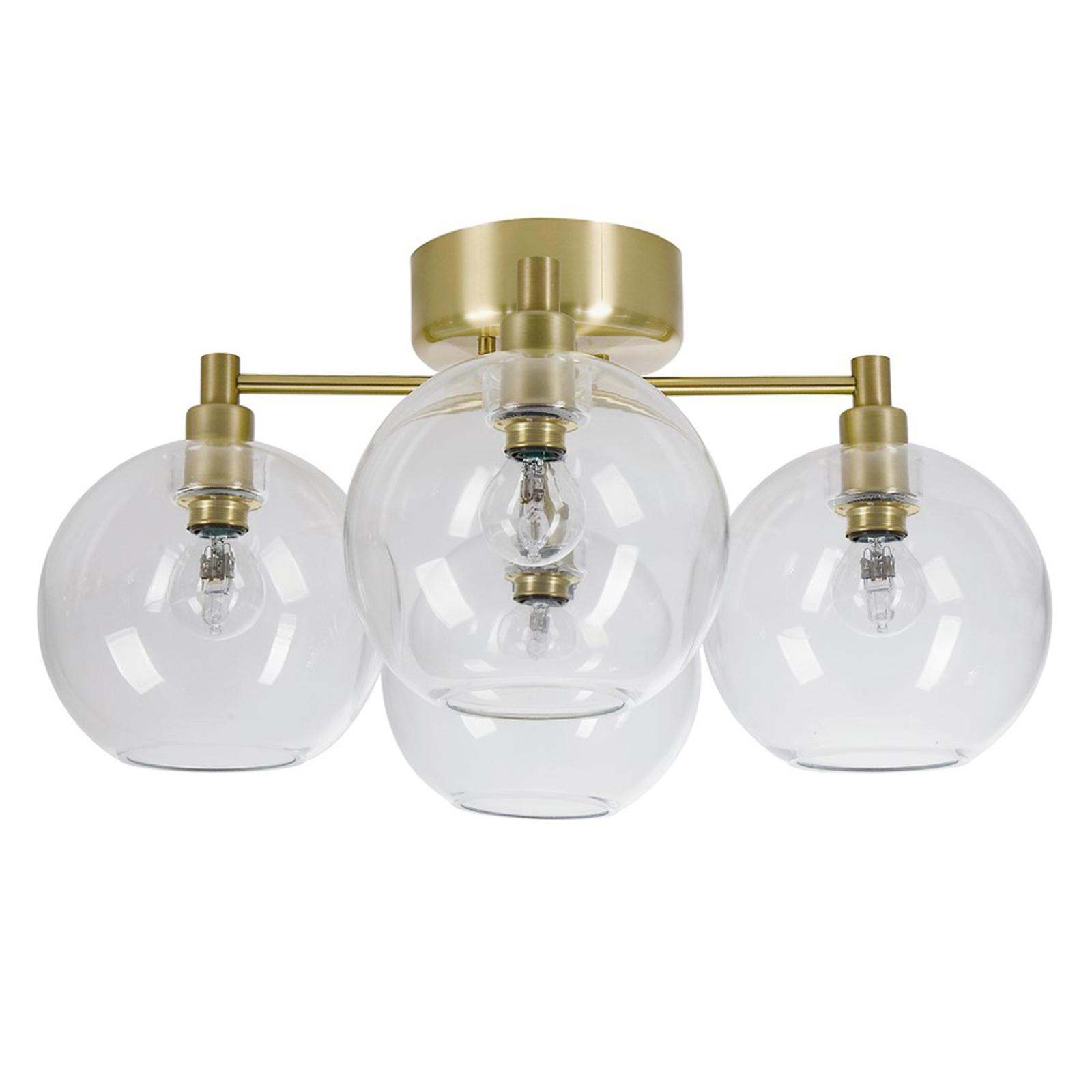Gloria glas-loftlampe med fire lyskilder