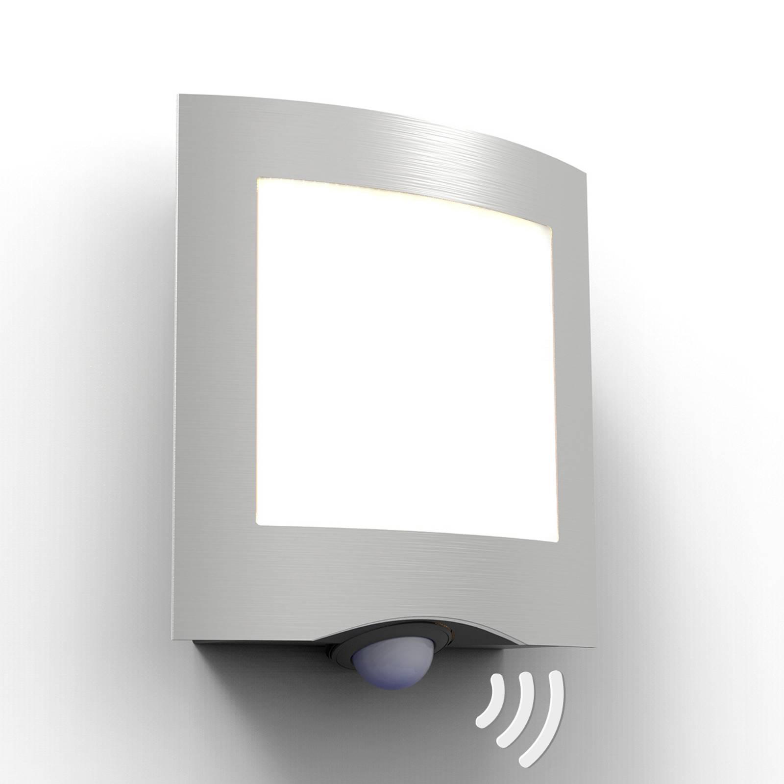 Applique extérieur LED Farell, acier inox, capteur