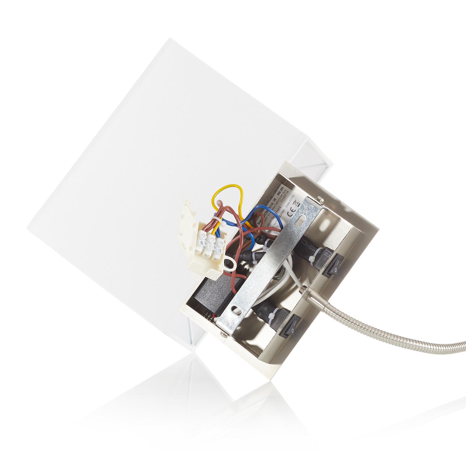 Aplique 6519 con brazo de lectura LED, plateado