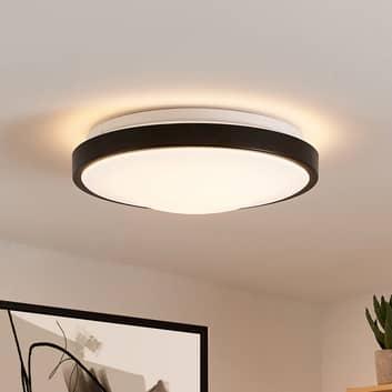 Lindby Villum LED-Deckenleuchte, rund, schwarz