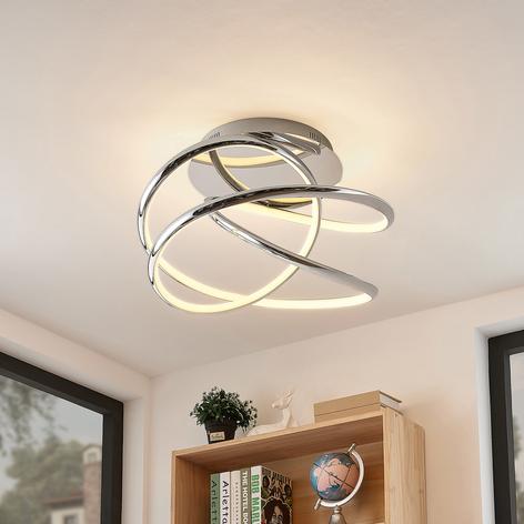 Lucande Fluxus plafonnier LED, dimmable 3niveaux
