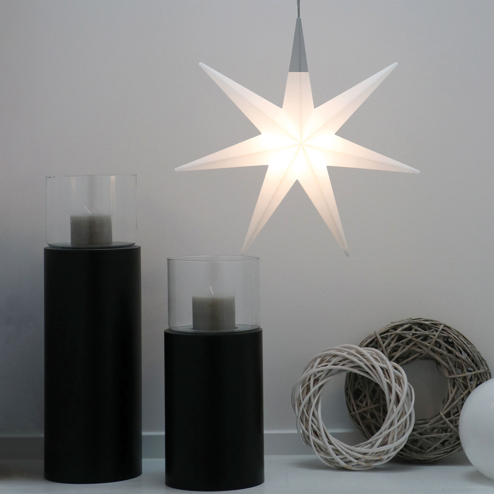 LED-Weihnachtsstern Shining Glory Star 55 cm