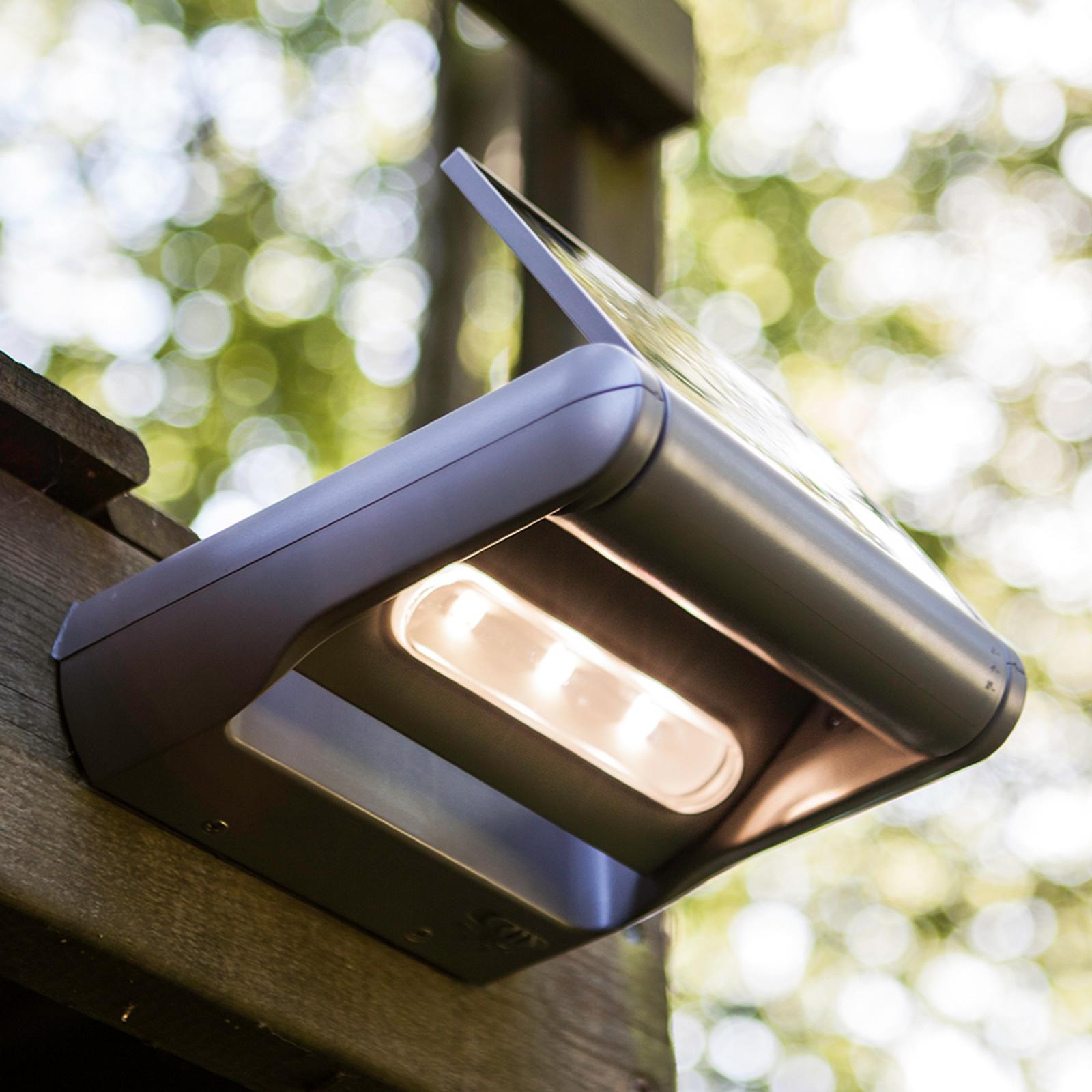Dimbar LED-solcells-utomhusvägglampa Mini LEDSpot