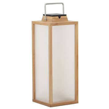 LED-Solarlaterne Tradition aus Teakholz