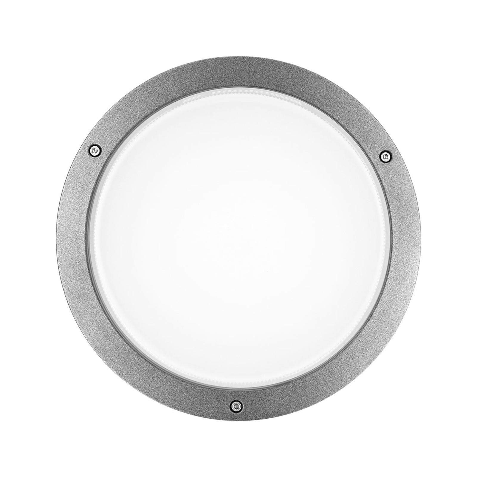 LED-vegglampe Bliz Round 30 3000K, grå dimbar