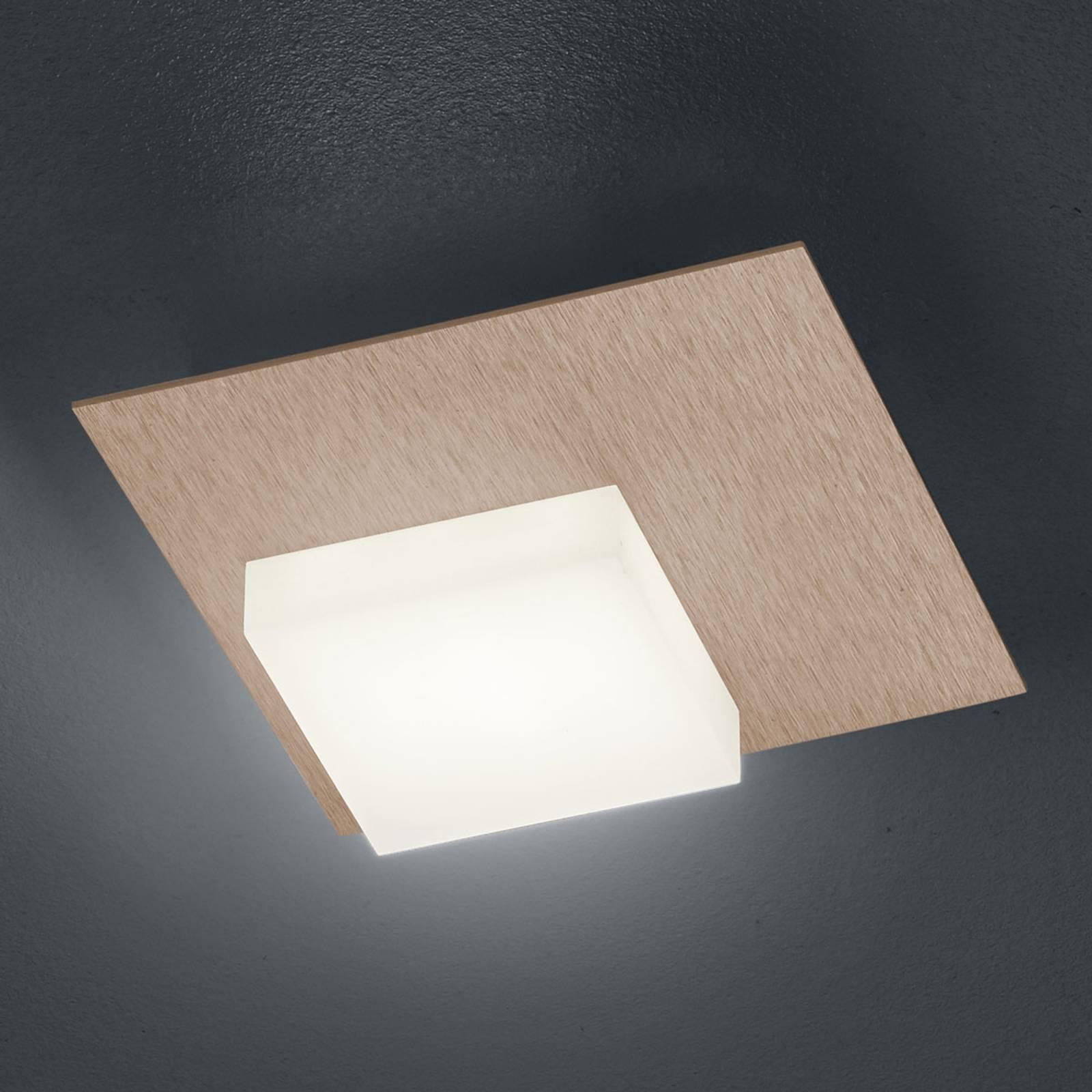 BANKAMP Cube LED plafondlamp 8W, rosegoud