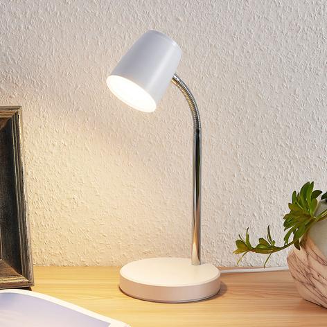 Lindby Jegor lampada LED da tavolo bianco