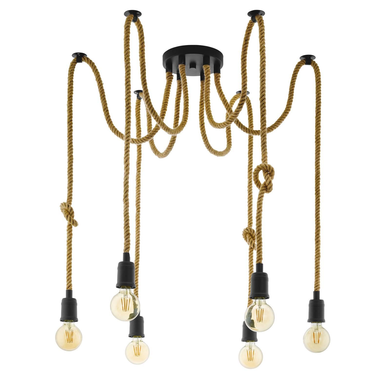 Hanglamp Rampside met 6 fittingen