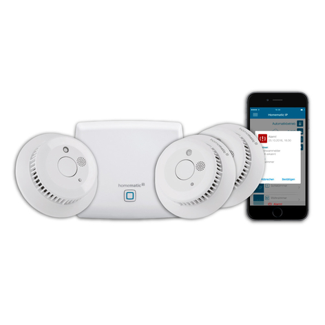 Homematic IP starter set detector de humo