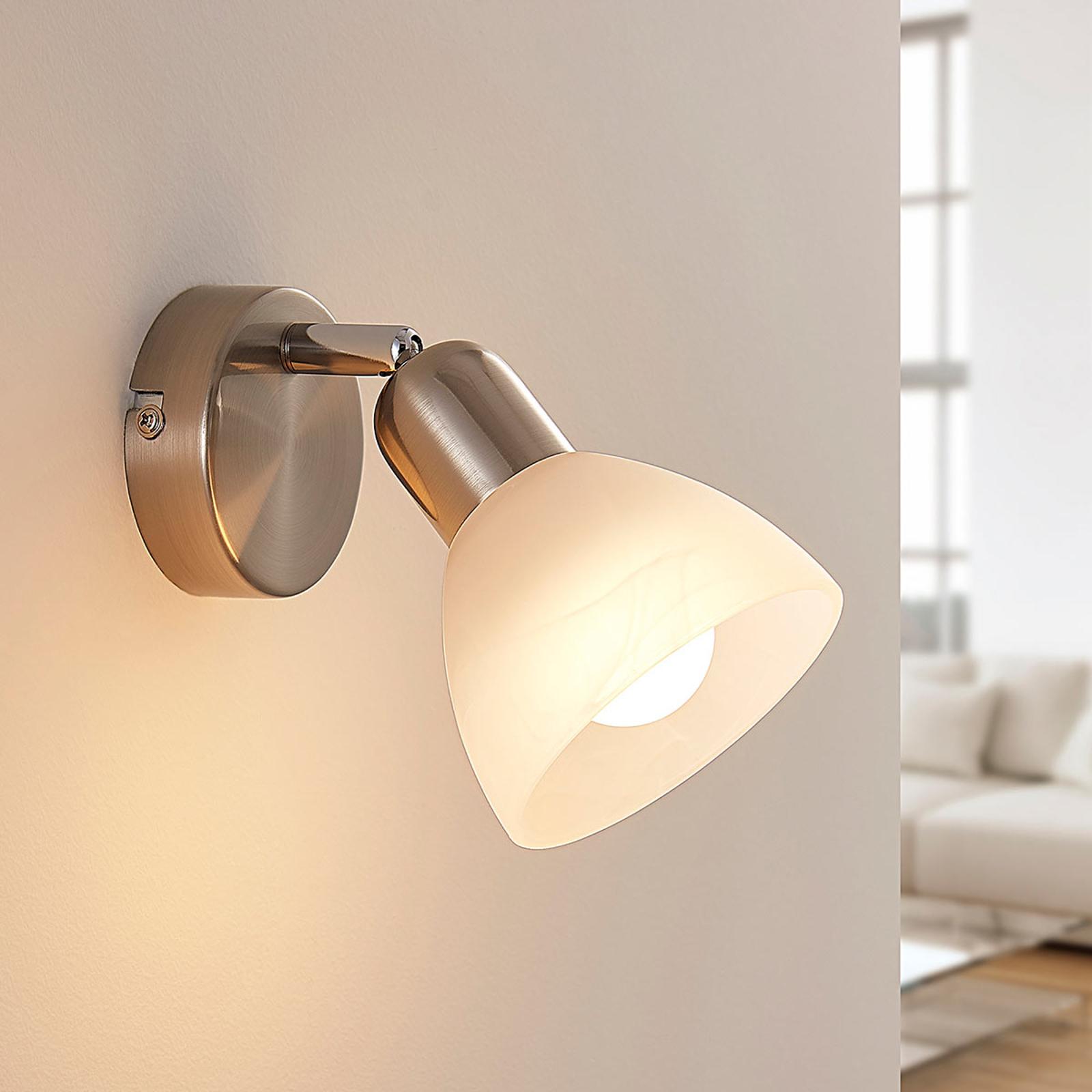 LED wandlamp Paulina, gesatineerd nikkel