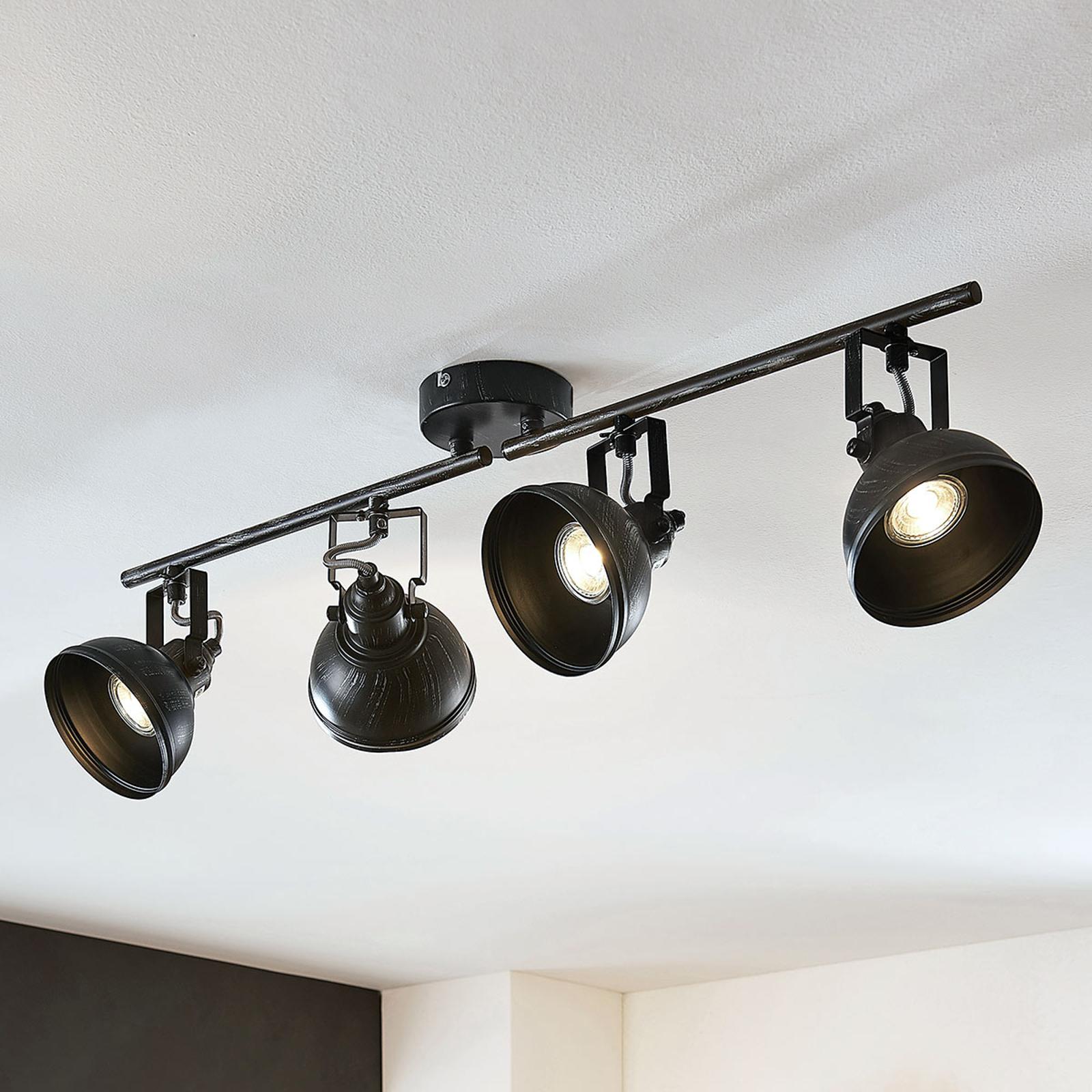 Spot pour plafond Lovro, à 4 lampes