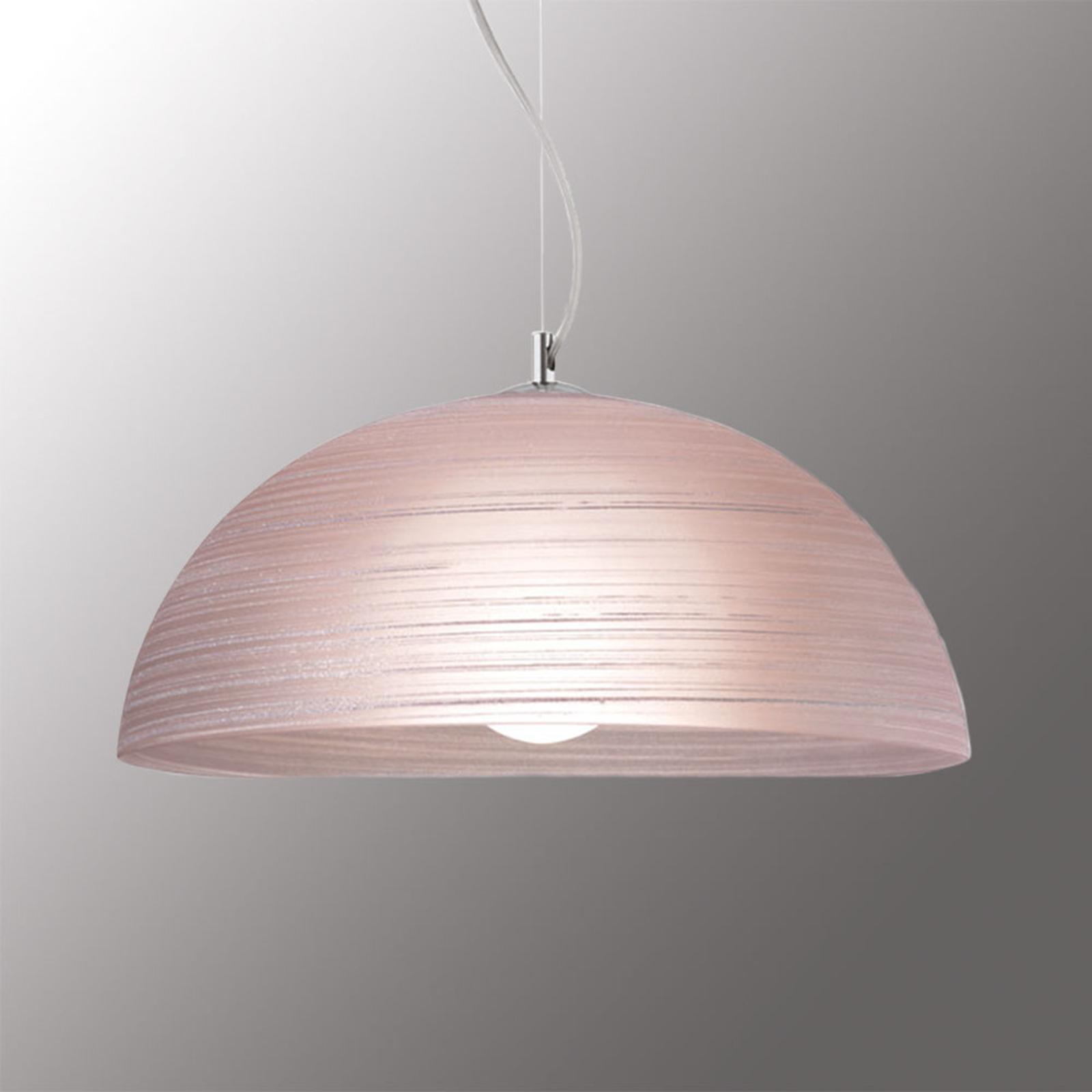 Handgedecoreerde hanglamp Modesto, oud roze