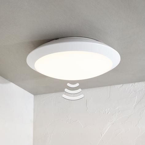 Plafonnier extérieur LED Naira blanc avec capteur