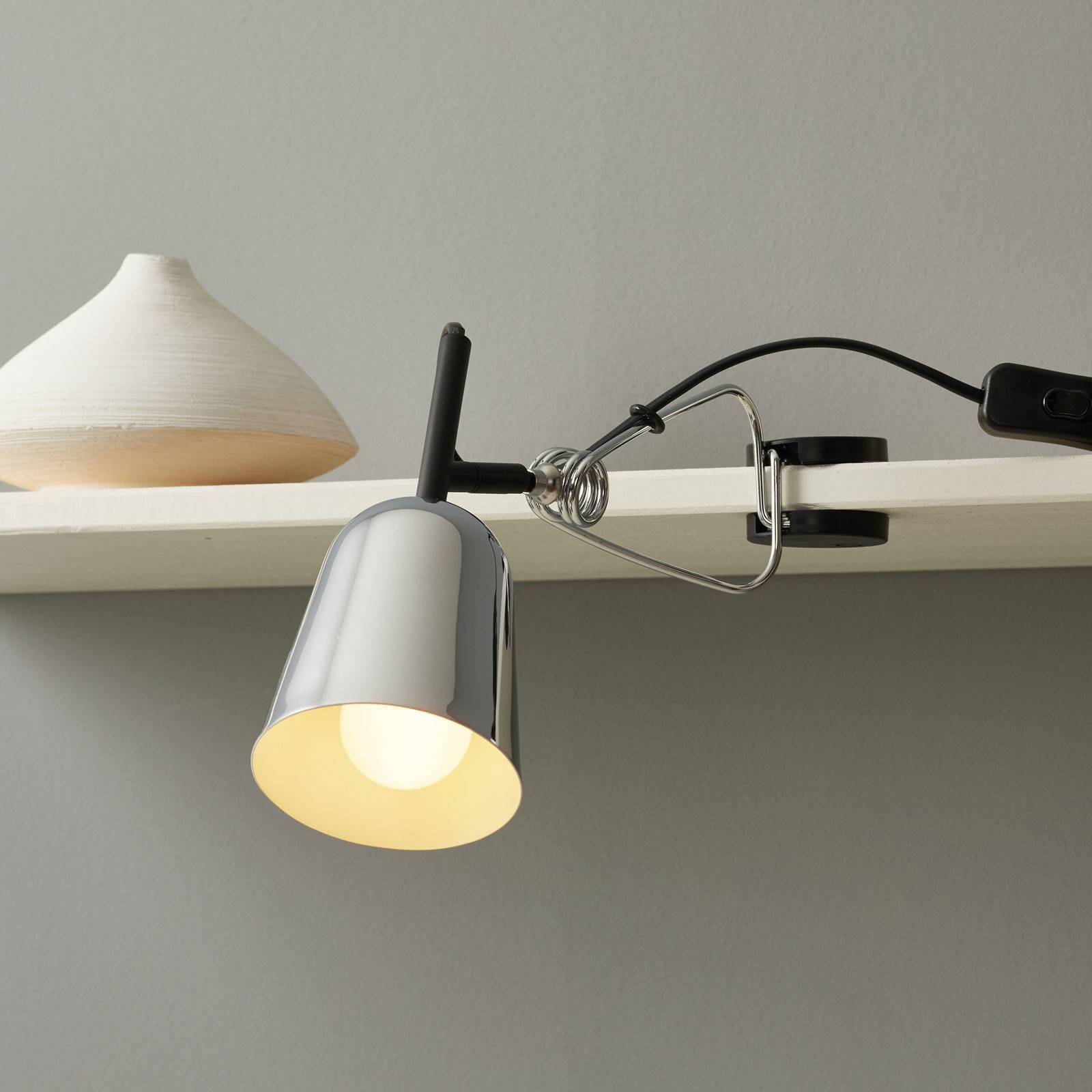 Klemlamp studio, verchroomd