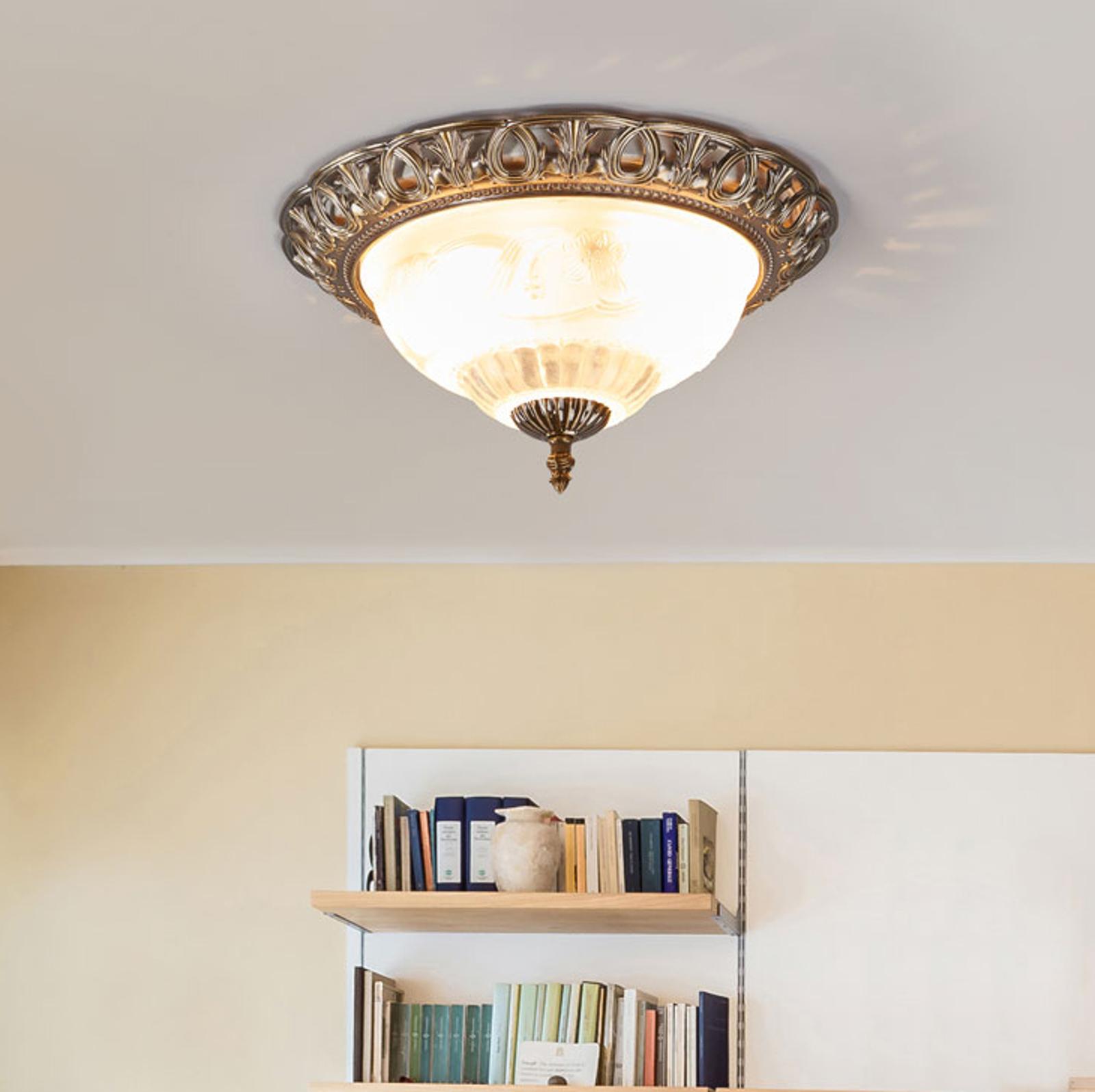 Stijlvolle plafondlamp TERESA met sierrand