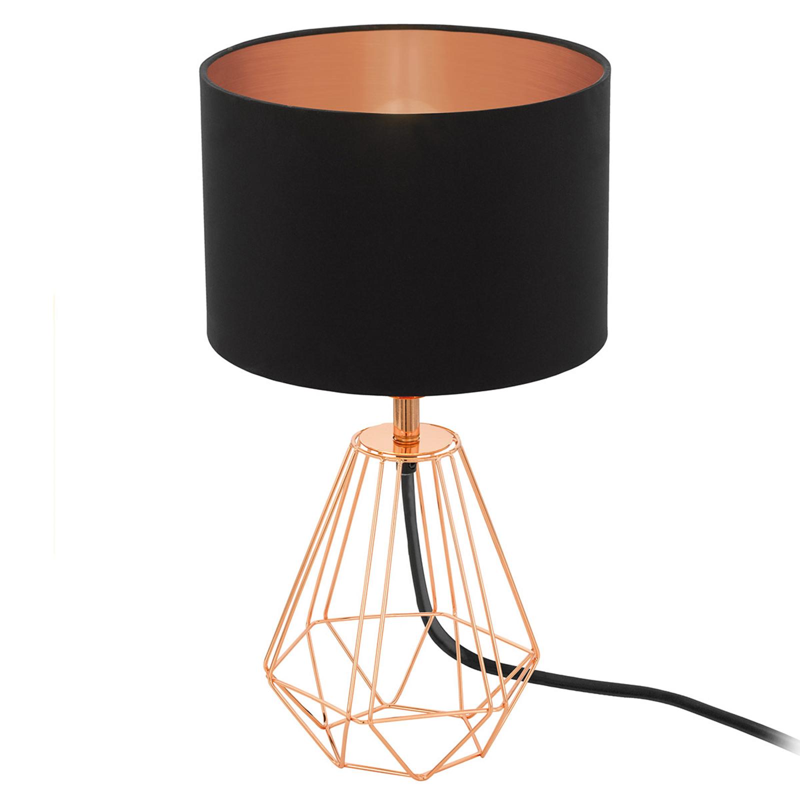 Lámpara de mesa Carlton 2 negro-cobre
