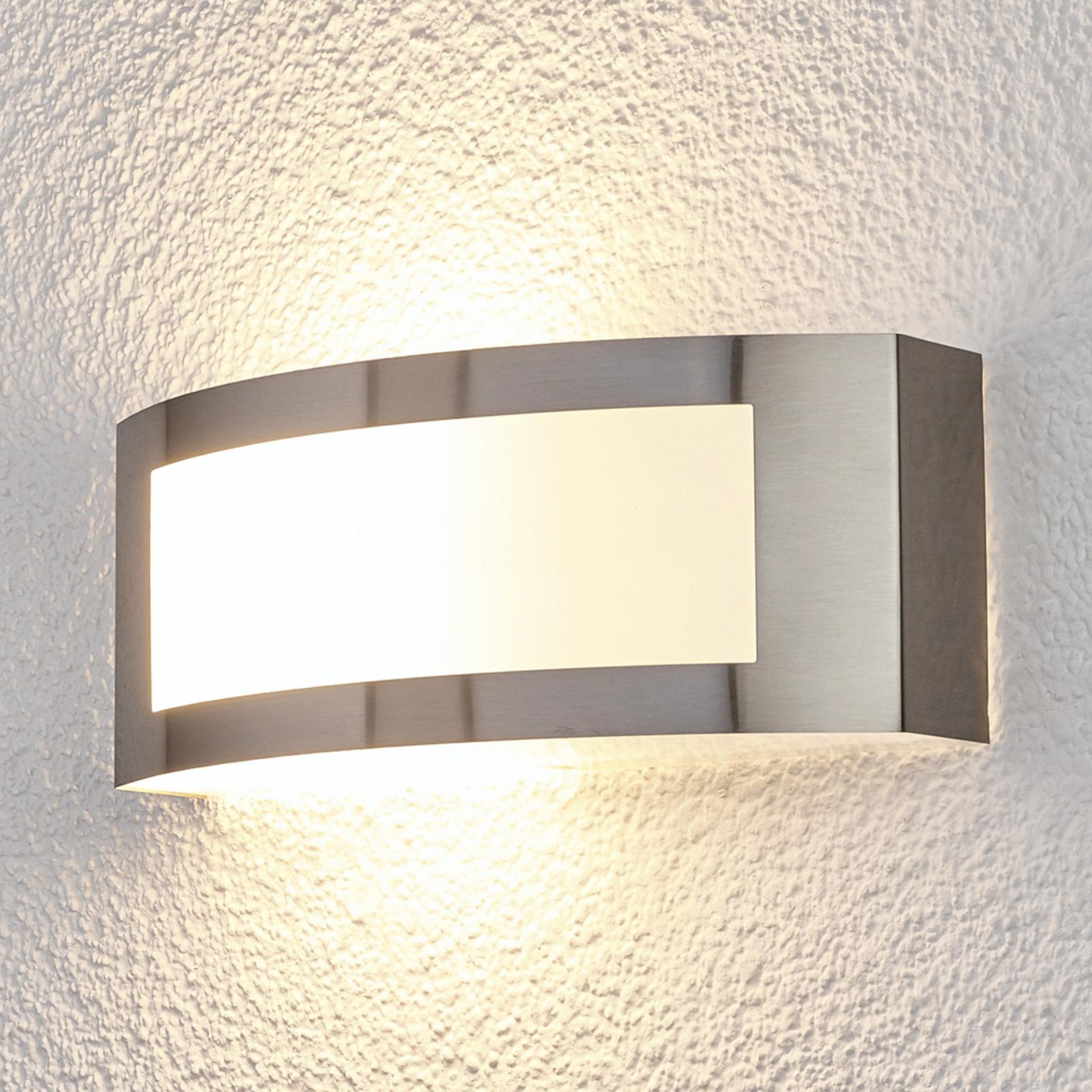 Raja - udendørsvæglampe af rustfrit stål