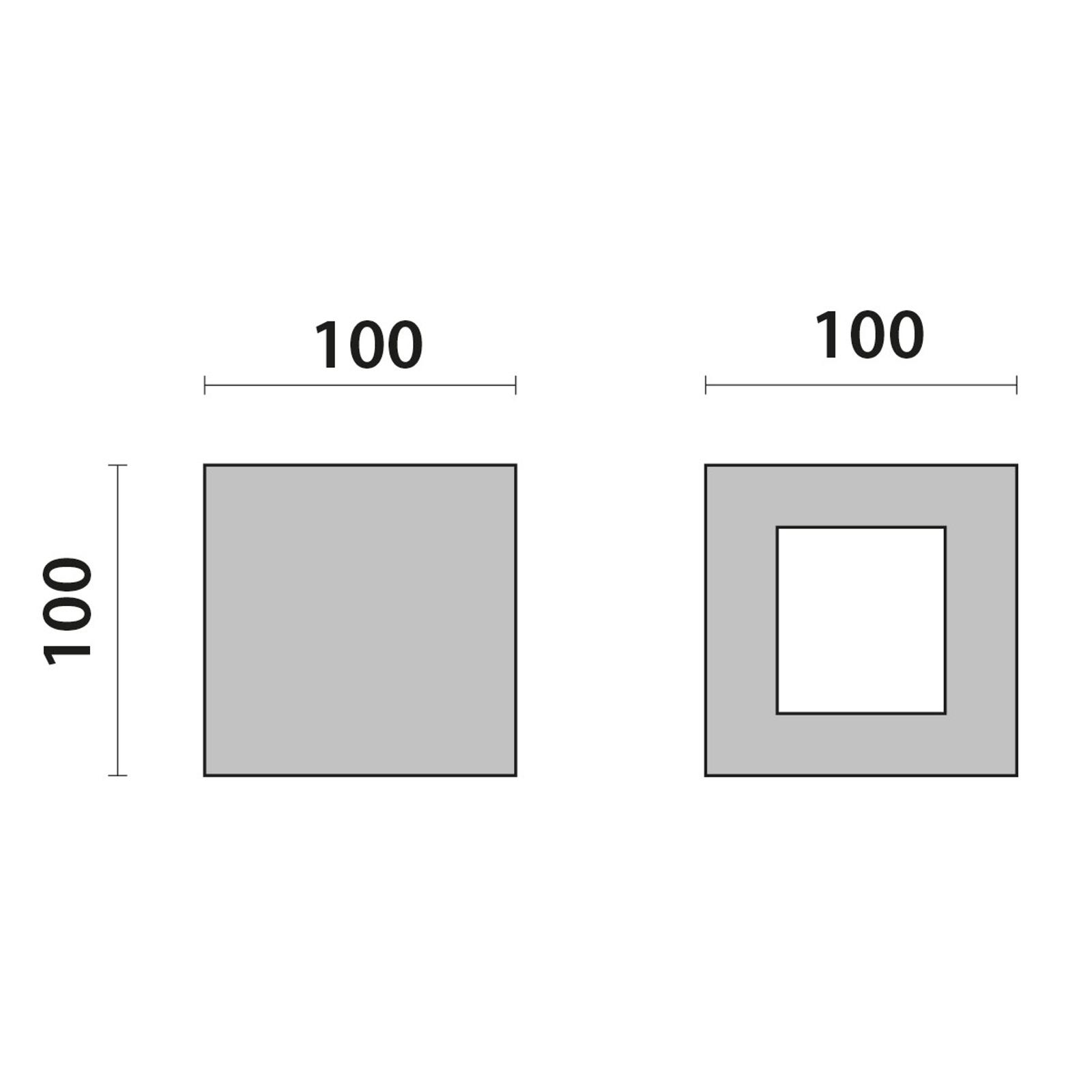 LED-Wandleuchte 303366 in Grau, 1NB+1WB 3.000K