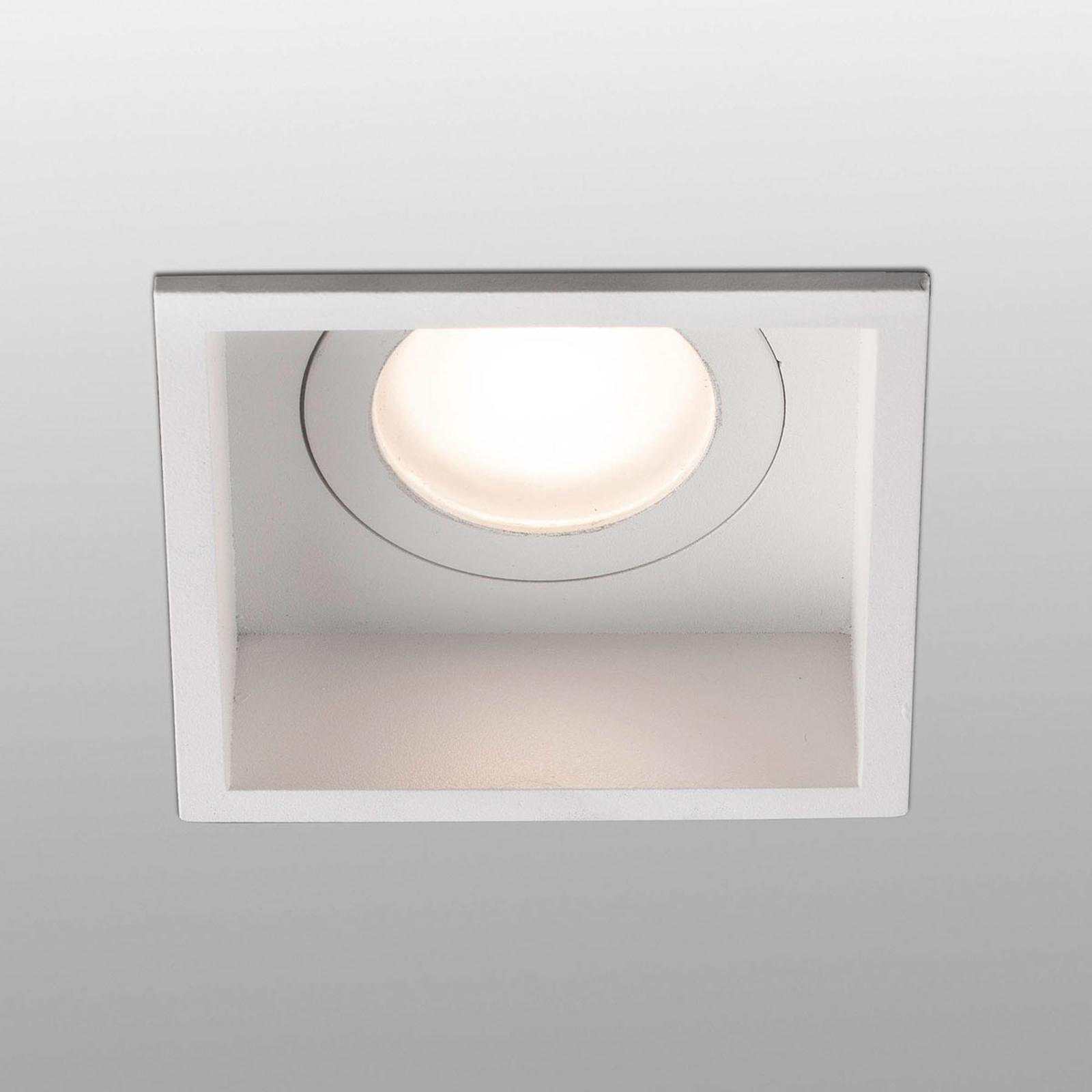 Spot encastré Hyde 1 lampe cadre carré IP44 blanc