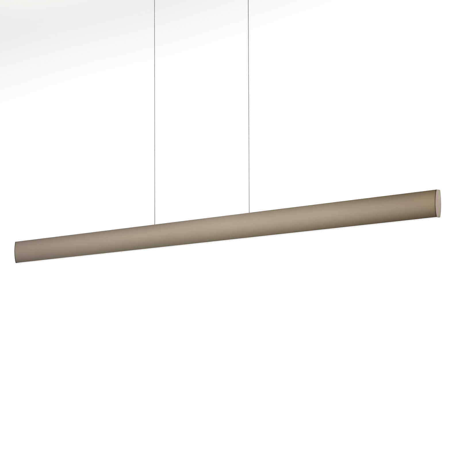 Suspension LED Runa, bronze, longueur 132 cm