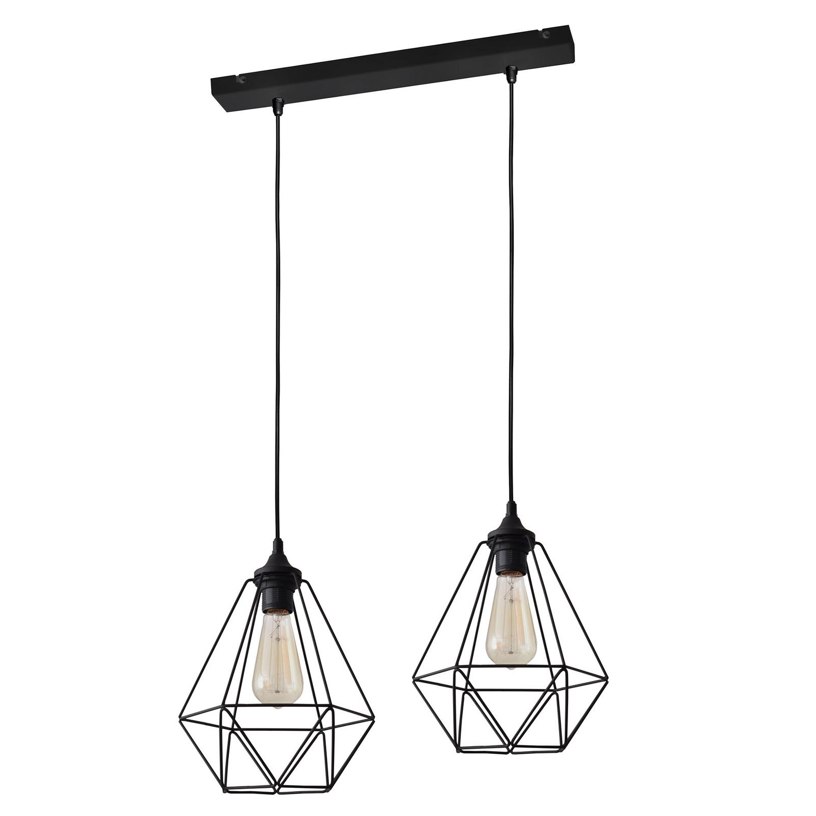 Hanglamp Karo 2-lamps, zwart