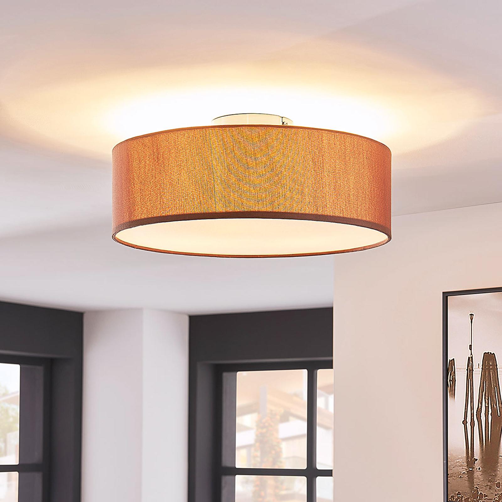 Sebatin - elegante lampada da soffitto marrone