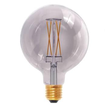 E27 6W 920 LED-globlampa G125 rökgrå