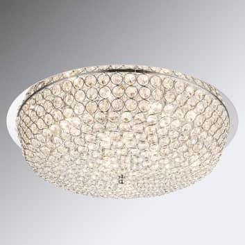Kristallen plafondlamp Emilia met LED lampen