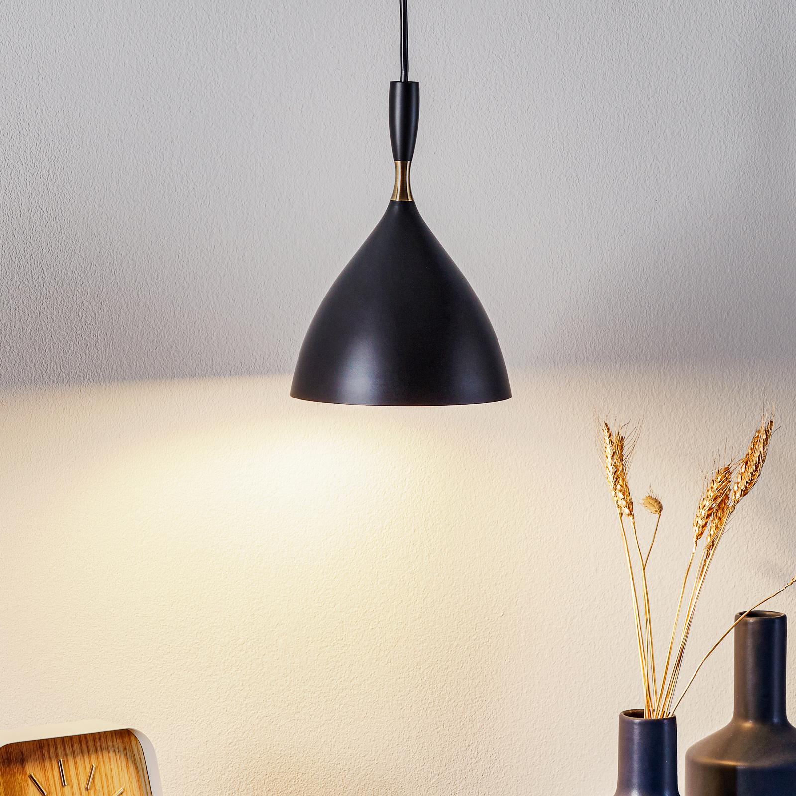 Zwarte design hanglamp Dokka
