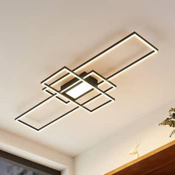 Lindby Caitlin plafón LED, antracita