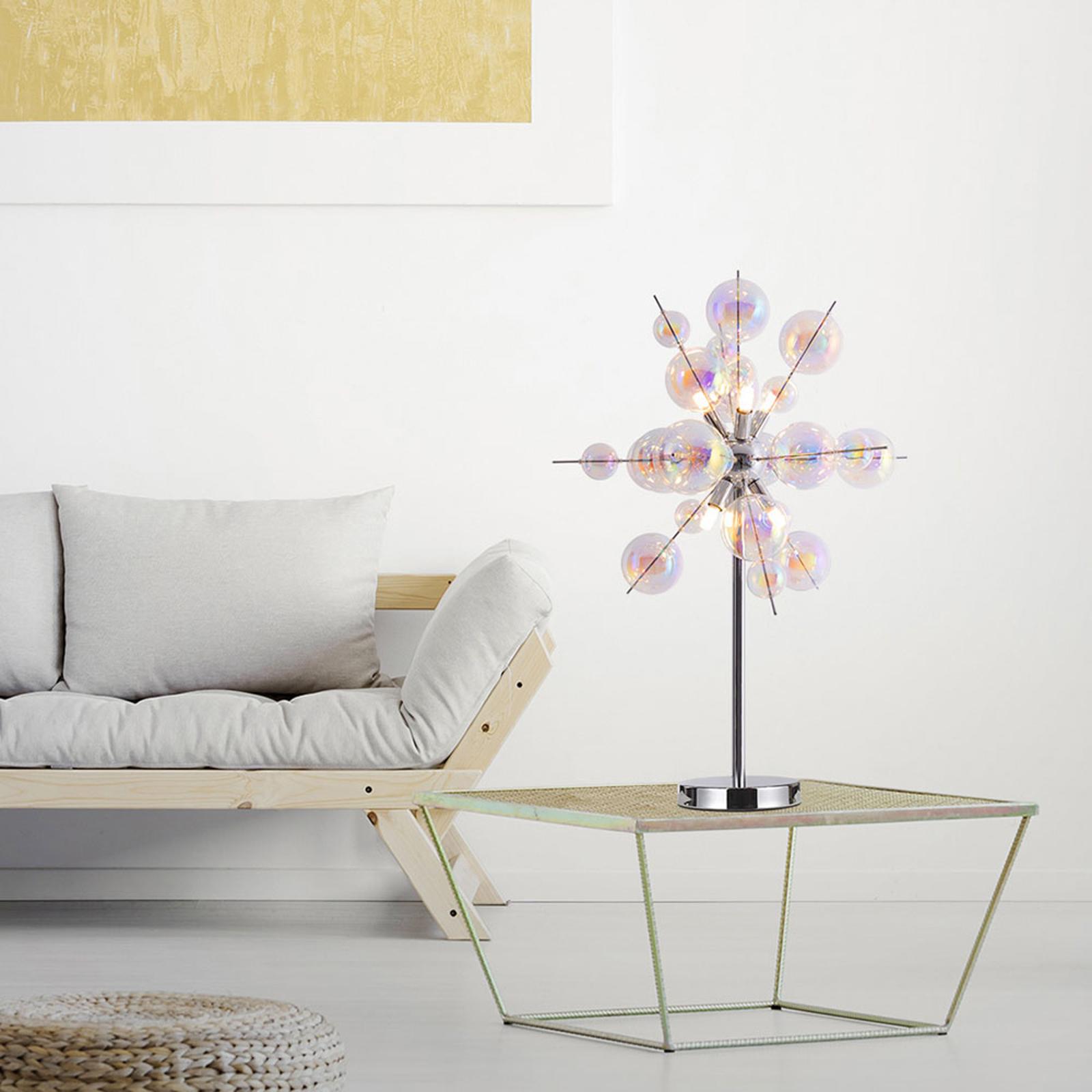 Lampa stołowa Explosion ze szkła, 6-punktowa