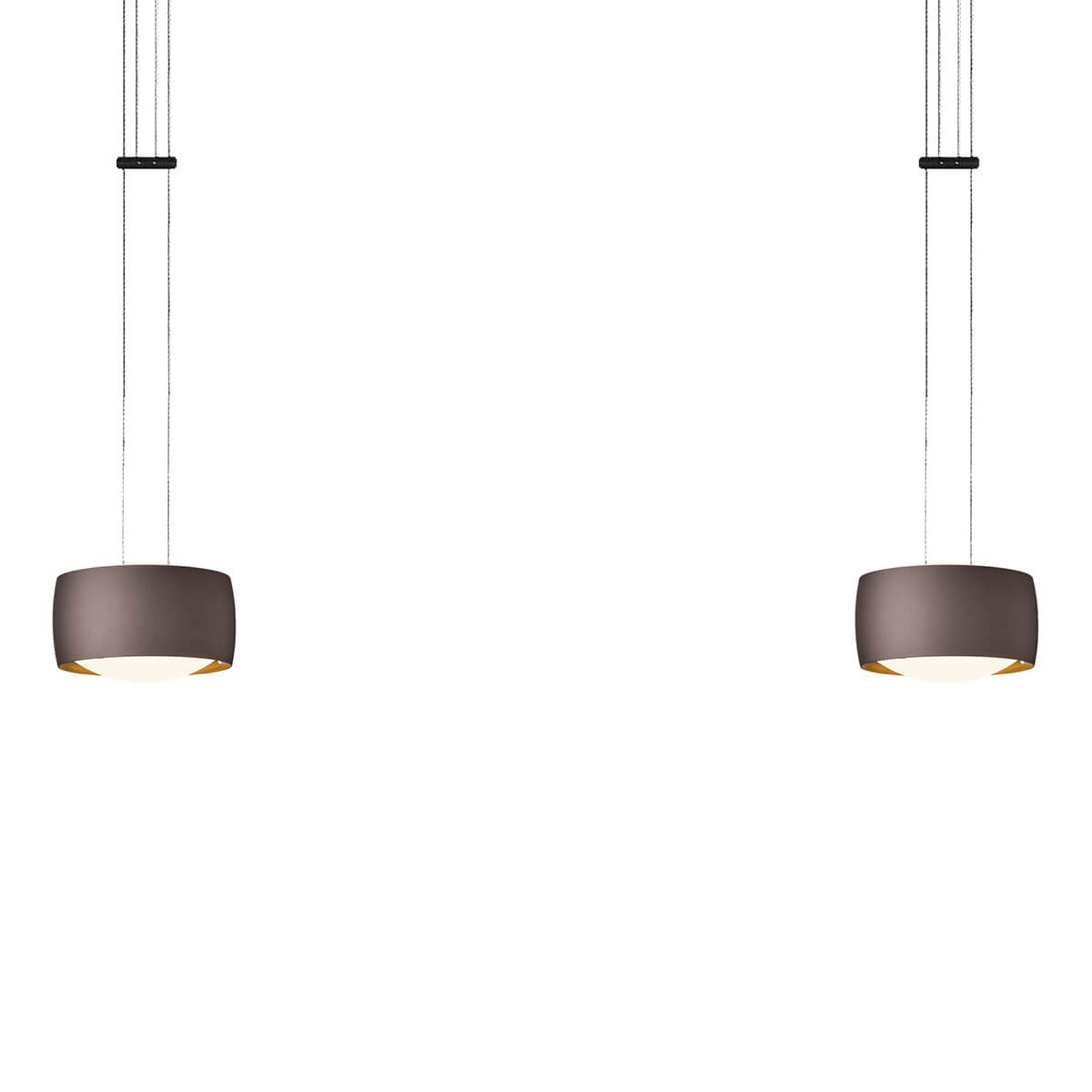 OLIGO Grace lampa wisząca LED 2-punktowa brązowy