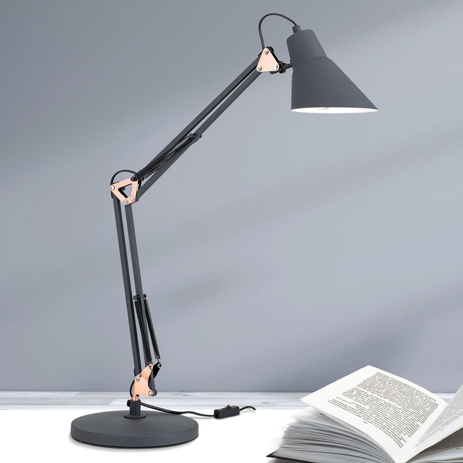 Lampa stołowa Bachelor, potrójnie regulowana