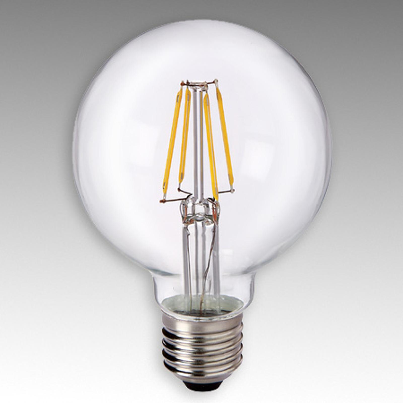 LED-Globelampe E27 4,5W 827 G80 Filament klar