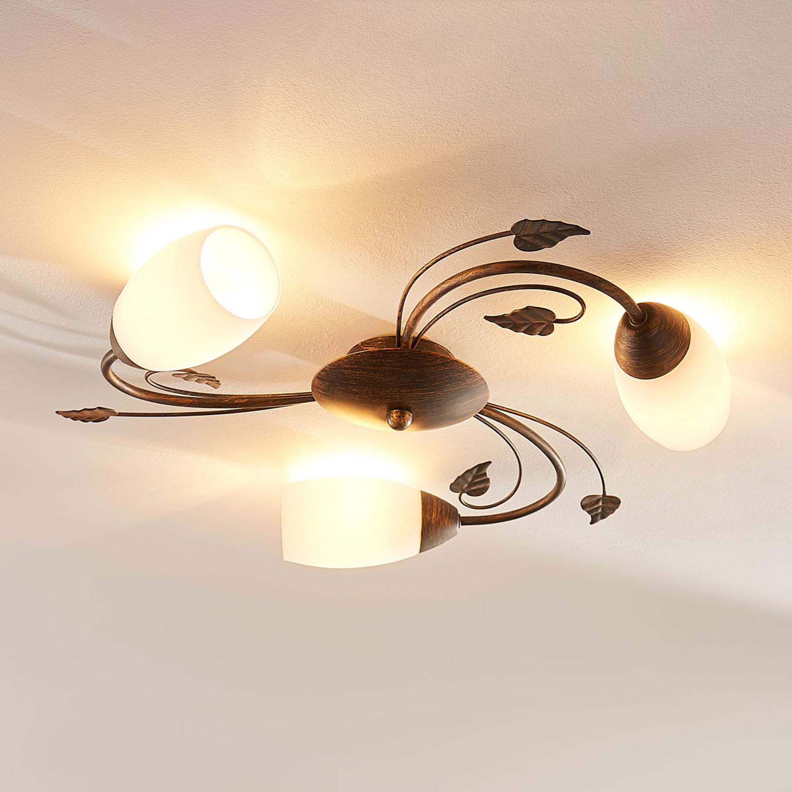Lámpara LED techo Stefania con 3 bombillas