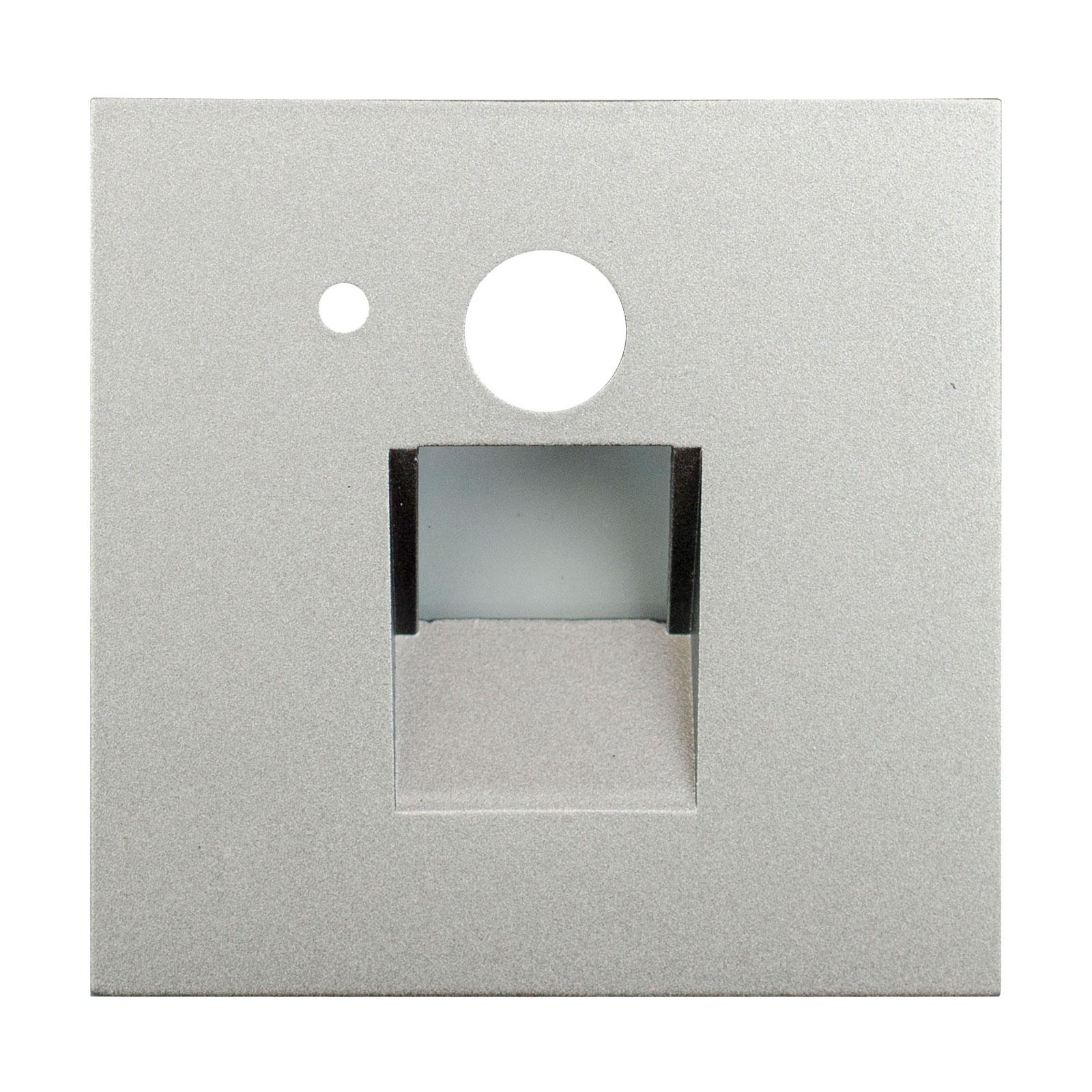 Arcchio Neru LED-Einbaulampe, Sensor eckig silber