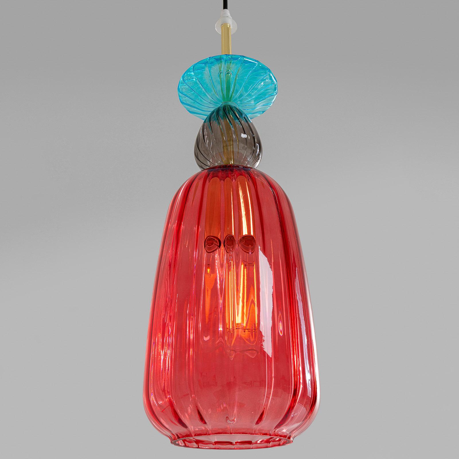 KARE Goblet Colore lampa wisząca ze szkła czerwona